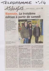 14-Le Télégramme 15 janvier 2015